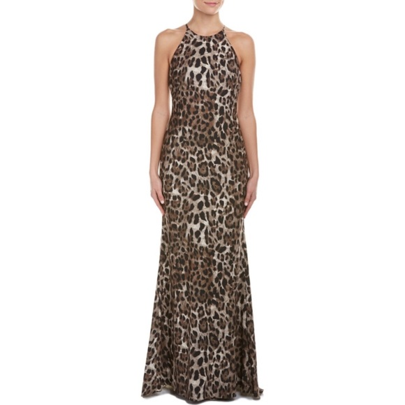 Badgley Mischka Dresses | Nwt Leopard Print Gown | Poshmark